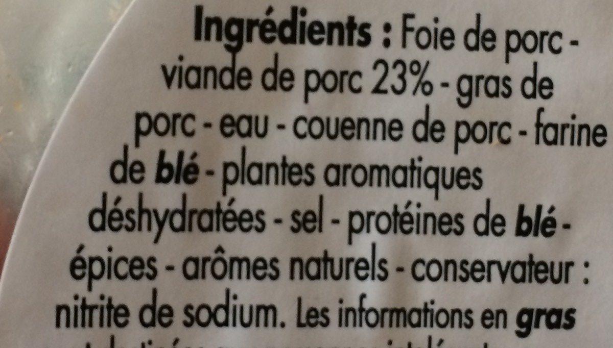 Pâté de campagne - Ingredients