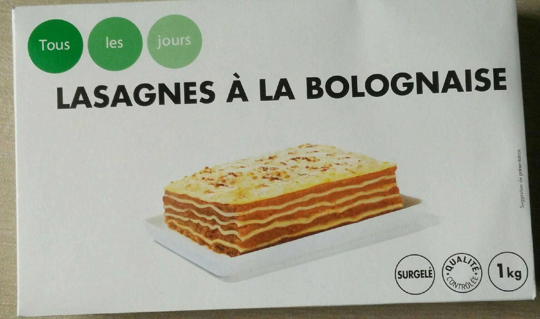 Lasagnes à la bolognaise - Nutrition facts
