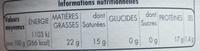 Coulommiers au lait pasteurisé - Informations nutritionnelles - fr