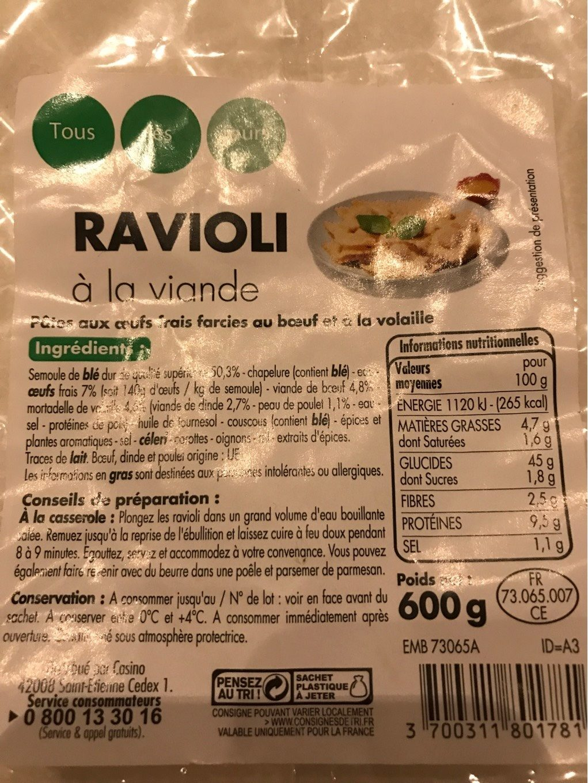 Ravioli à la viande - Product