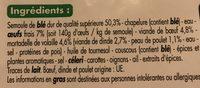 Ravioli à la viande - Ingredients