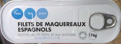Filets de maquereaux marinés au vin blanc et aux aromâtes - Produit - fr