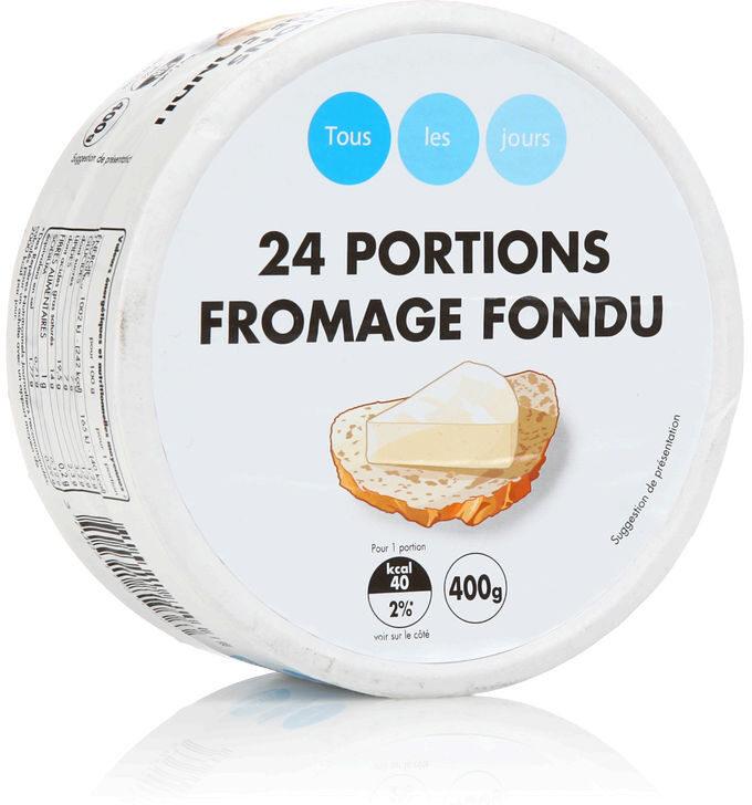 24 portions de fromage fondu - Produit - fr