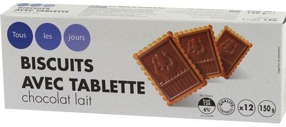 Biscuits avec tablette chocolat au lait - Product