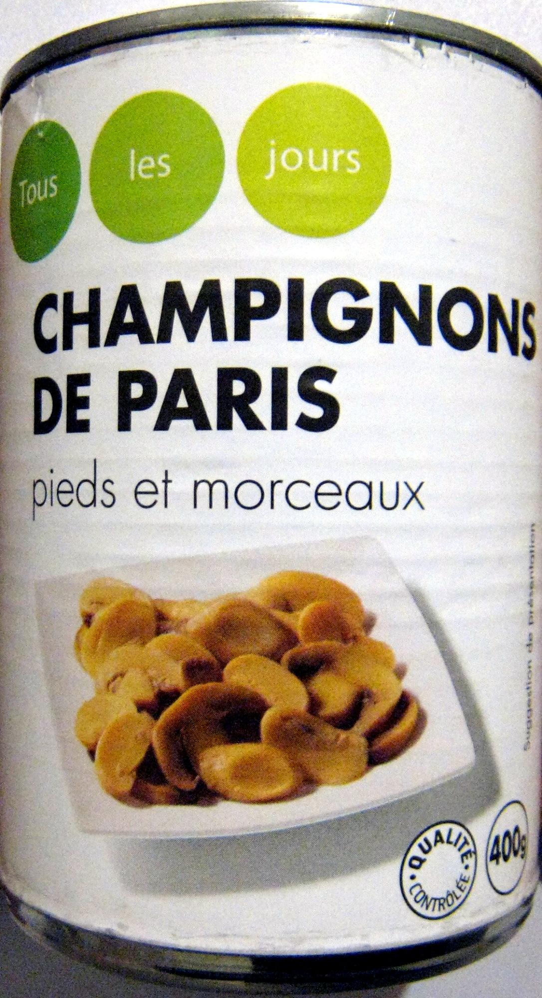 Champignons de Paris Pieds et Morceaux - Product - fr
