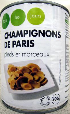 Champignons de Paris pieds et morceaux Tous les jours Casino - Produit