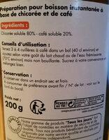 Chicorée café solubles - Nutrition facts