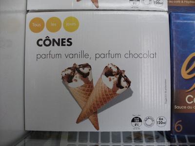 Cônes parfum vanille, parfum chocolat - 1
