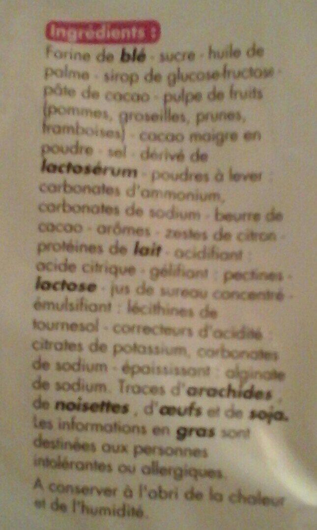 Assortiment de Biscuits - Ingredients