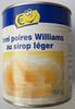 Demi poires Williams au sirop léger - Produit