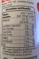 Purée de tomates - Informations nutritionnelles