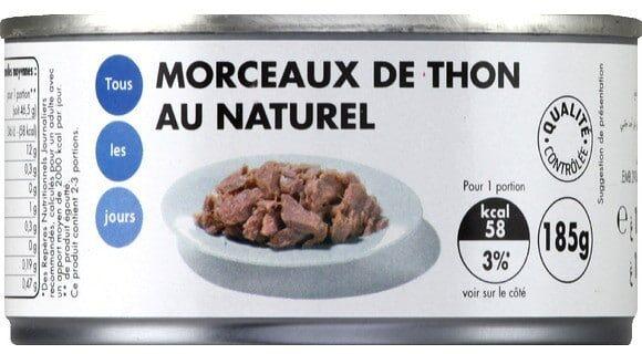 Morceaux de thon au naturel - Produit - fr
