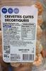 Crevettes cuites décortiquées - Produit