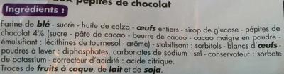 Mini gâteaux aux pépites de chocolat - Ingredients - fr