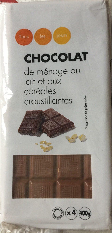 Chocolat de ménage au lait et aux céréales croustillantes - Product