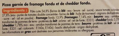 Pizza aux fromages - Ingrédients - fr