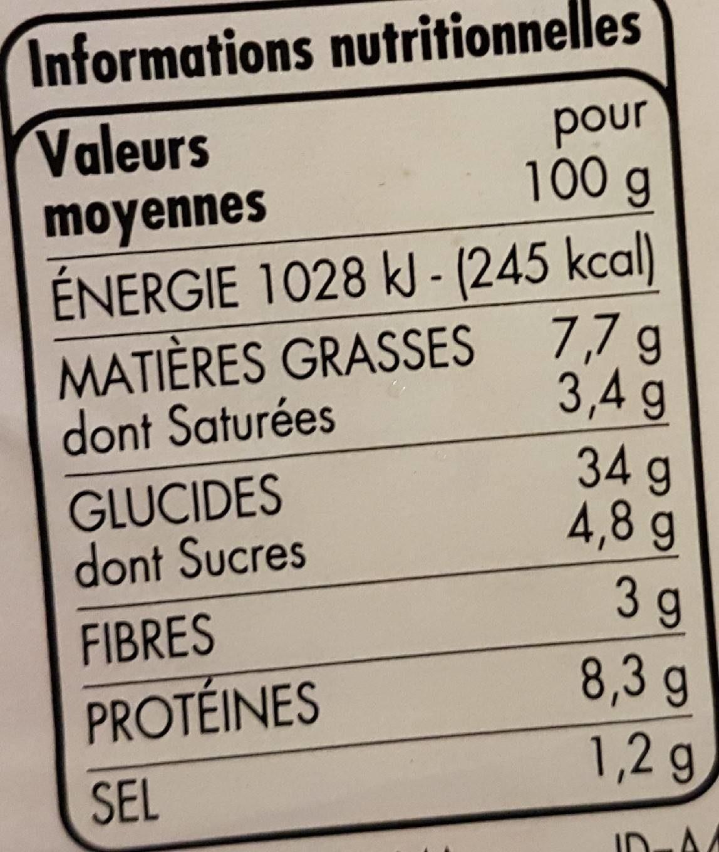 Pizza aux fromages - Informations nutritionnelles - fr