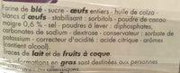 Barre marbrée - Ingrédients