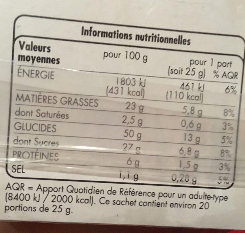 Barre marbrée - Informations nutritionnelles