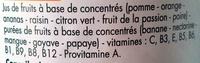 Jus multivitaminé de 12 fruits - Ingrediënten - fr