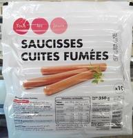 10 saucisses cuites fumées - Product - fr
