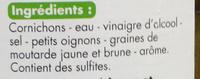 Cornichons au vinaigre - Ingredients