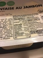 Piemontaise au jambon - Voedingswaarden - fr