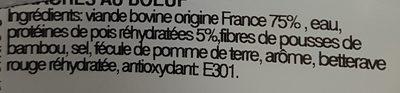 Haché au Bœuf - Ingredients - fr