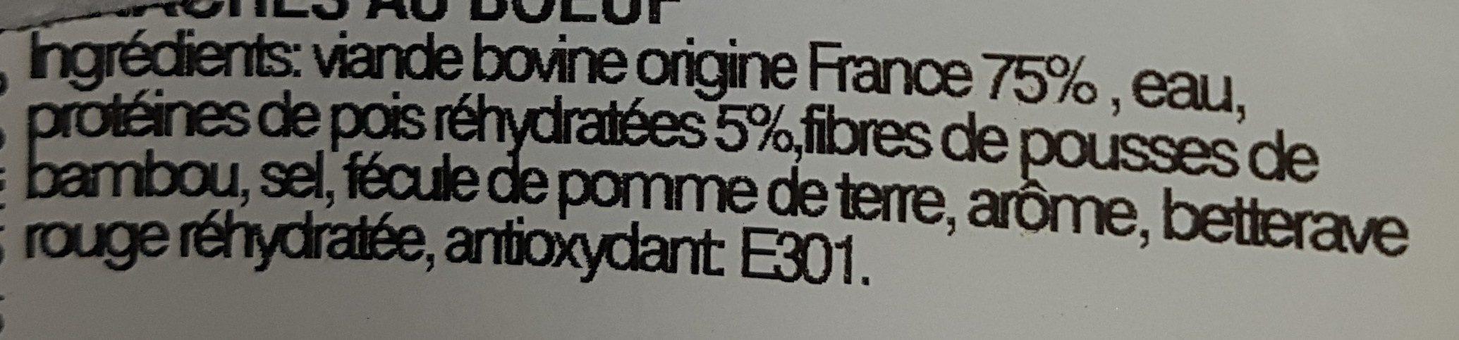 Haché au Bœuf - Ingredients