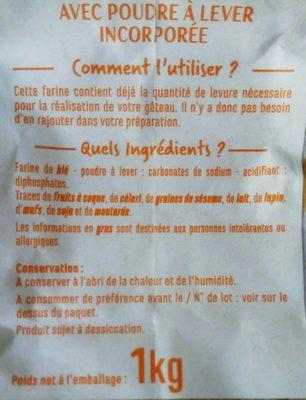 Farine de blé type 55 - Ingrédients - fr