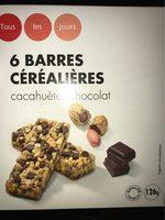 Barres céréalières aux pépites de chocolat et à la cacahuète - Product - fr