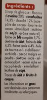 Barres céréalières aux pépites de chocolat et à la cacahuète - Ingrediënten - fr