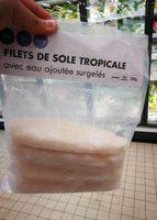 Filets de sole tropicale avec eau ajoutée surgelés sachet + rider - Product - fr