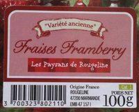 Fraises Framberry - Ingrediënten