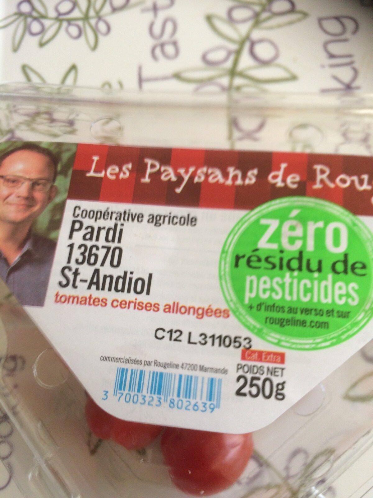 Tomates Cerises Allongées - Ingrédients