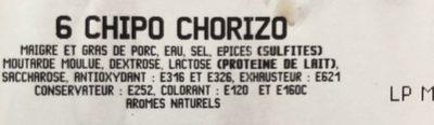 6 chipo chorizo - Ingrédients - fr