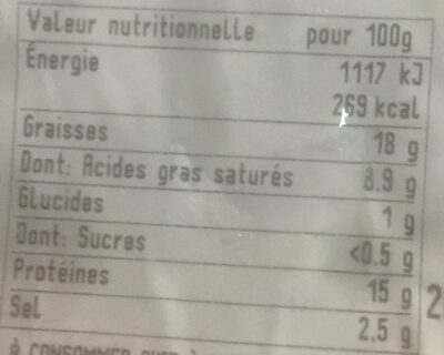 6 chipo chorizo - Informations nutritionnelles - fr