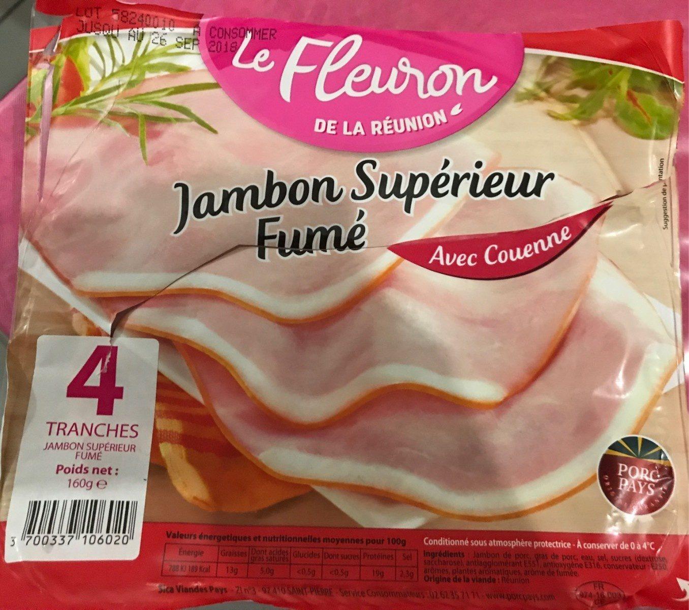 Jambon superieur fumé - Produit - fr