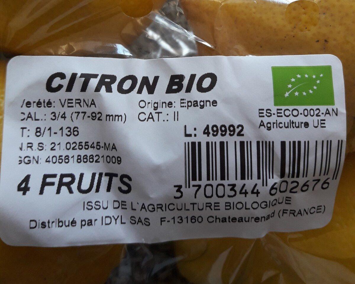 Citron - Ingrediënten - fr