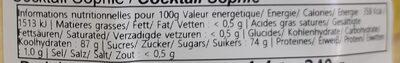 Confiserie fantaisie - Nutrition facts - fr