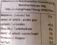 Ourson cœur - guimauve - Nutrition facts - fr