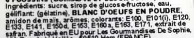 Poussins Guimauve - Ingredients