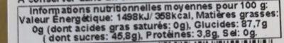 Poussins Guimauve - Nutrition facts