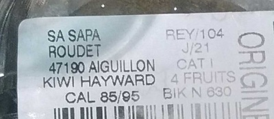 Kiwi Hayward - Ingrédients