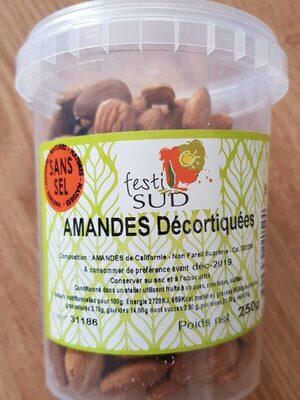 Amandes décortiquées sans sel - Produit - fr