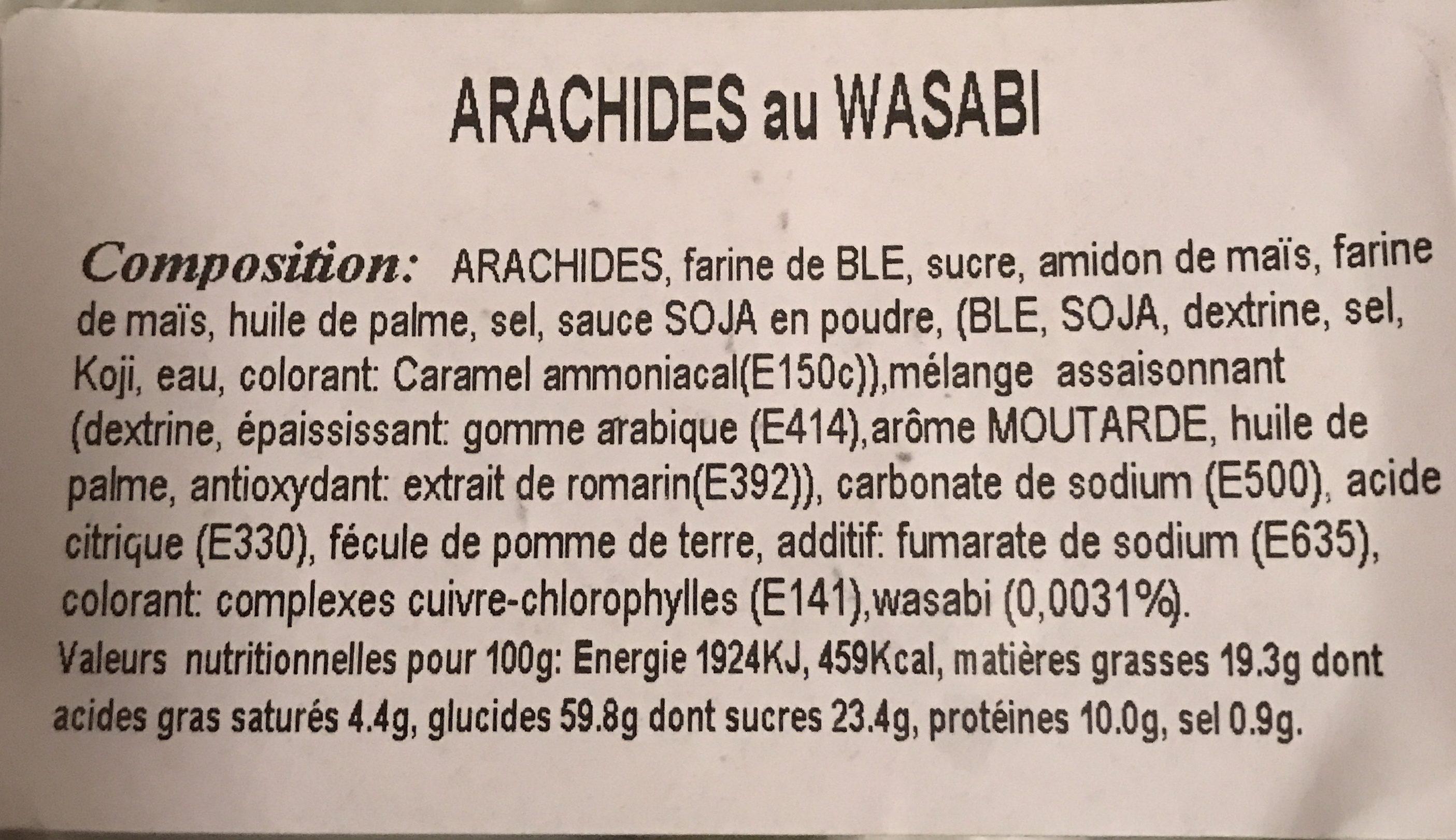 Arachide au wasabi - Ingrédients - fr