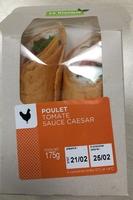 Wraps au poulet, tomate, sauce caesar - Produit - fr