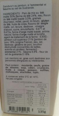 Club Jambon Sup. Emm. Beurre Sel De Guerande - Produit - fr