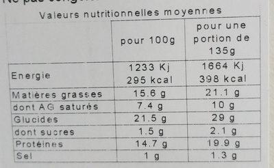 Club Jambon Sup. Emm. Beurre Sel De Guerande - Informations nutritionnelles - fr