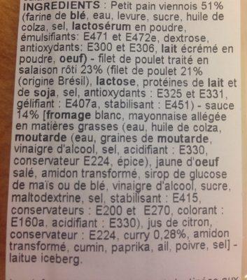 Poulet Sauce au curry - Ingredients